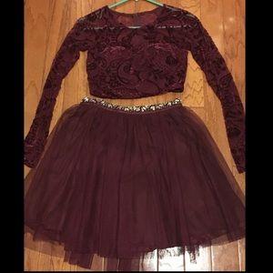 My Michelle Juniors Size 3 purple 2-piece dress